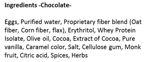 Chocolate SmartCake Ingredients