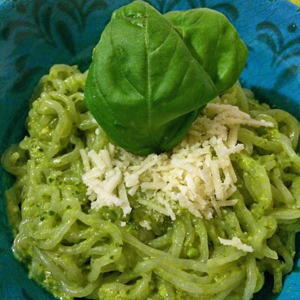 Creamy Avocado Pasta with Shirataki Noodles