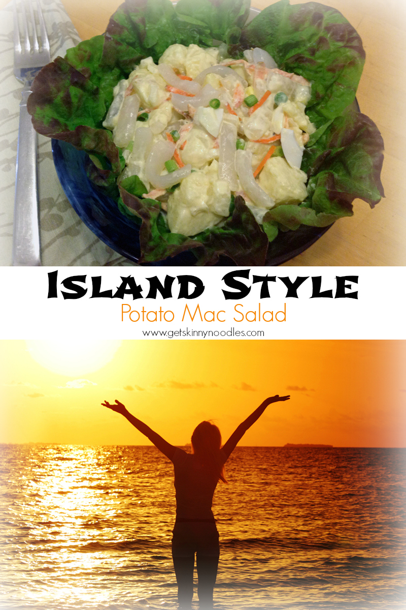 Island Style Potato Mac Salad with shirataki noodles