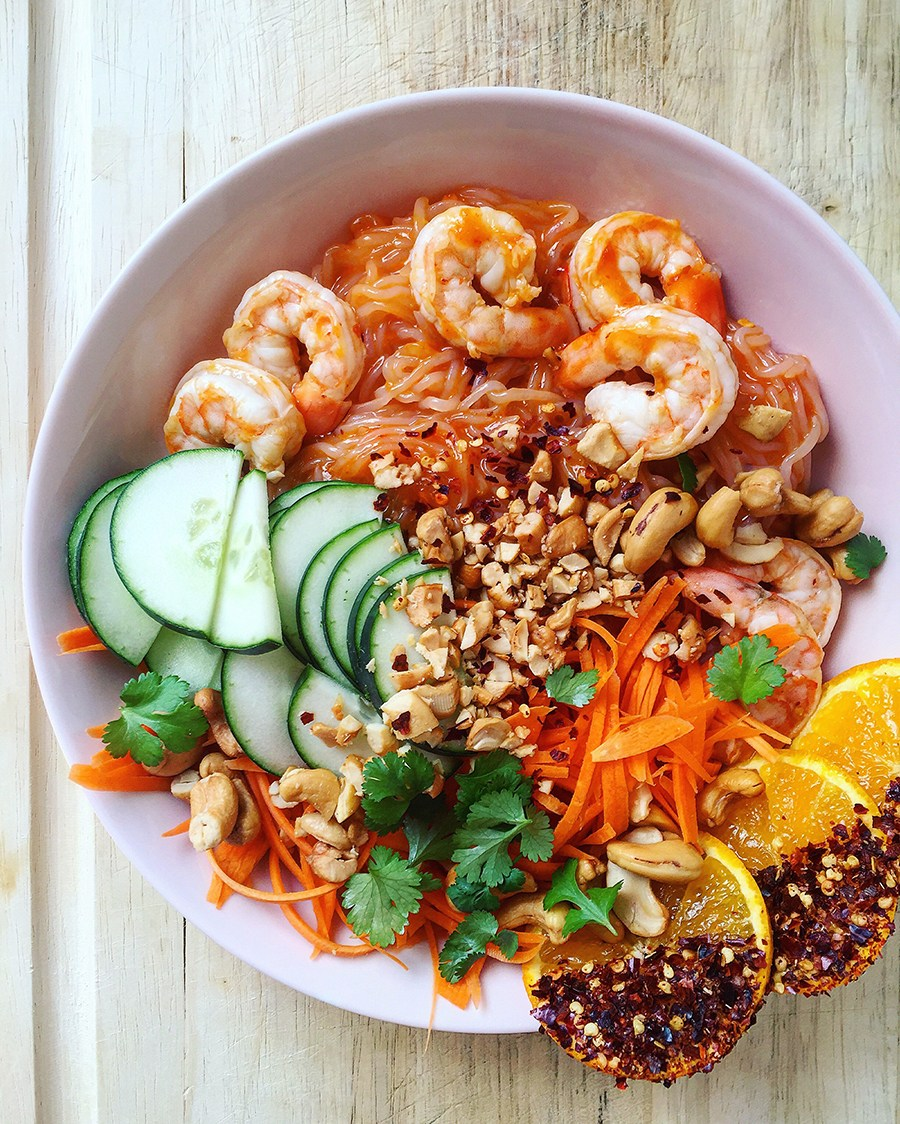 Spicy Citrus Shrimp Bowl
