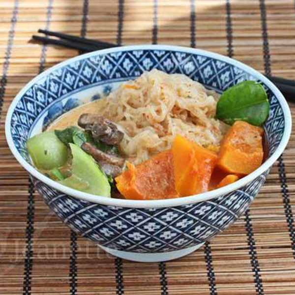 Thai Coconut Winter Squash Noodles Soup