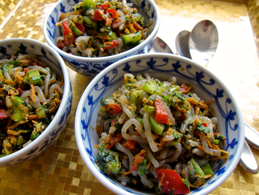 Herb Noodle Salad by the Jittery Cook
