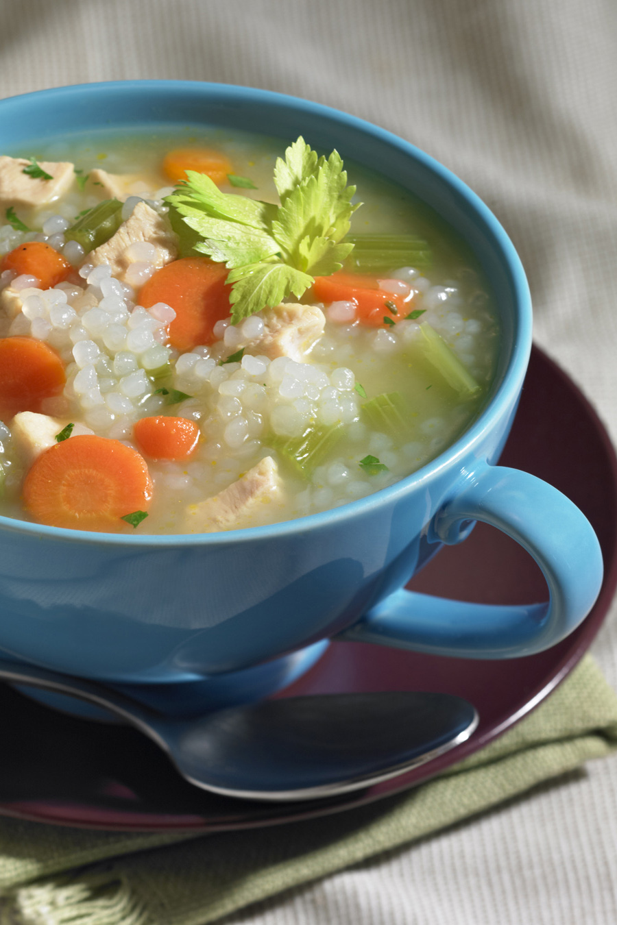 Chicken and Skinny Rice Soup