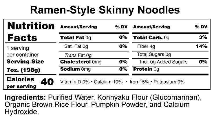 Shirataki Noodles Nutrition Lowest Calorie Noodles